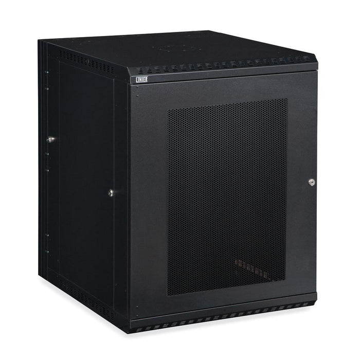 15U LINIER® Swing-Out Wall Mount Cabinet - Vented Door by Kendall Howard in Racks & Accessories  - Network Cables Online