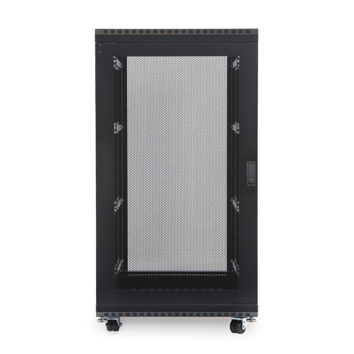"22U LINIER® Server Cabinet - Glass/Vented Doors - 24"" Depth Racks & Accessories Kendall Howard"