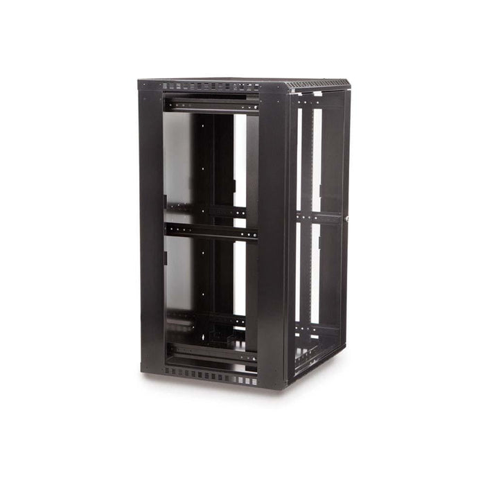 22U LINIER® Fixed Wall Mount Cabinet - Glass Door Racks & Accessories Kendall Howard