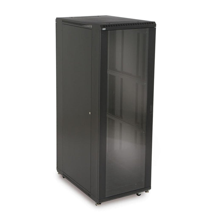 "37U LINIER® Server Cabinet - Glass/Glass Doors - 36"" Depth by Kendall Howard in Racks & Accessories  - Network Cables Online"