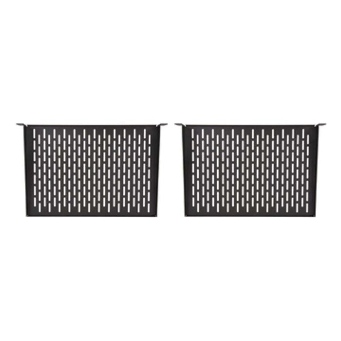 "1U 12"" Vented Component Shelf (2 Pack) by Kendall Howard in Racks & Accessories  - Network Cables Online"