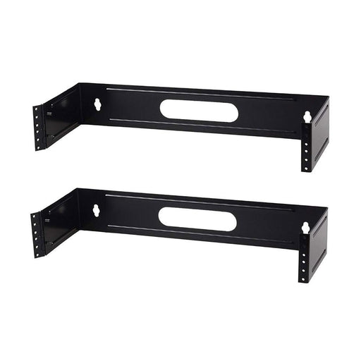Patch Panel Brackets -Two 2U Steel Wall Mount Hinged