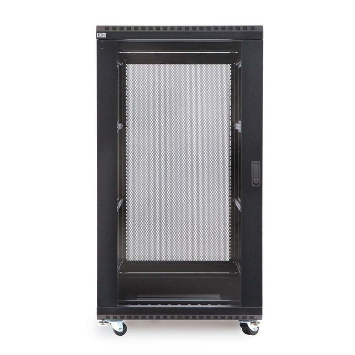 "22U LINIER® Server Cabinet - Glass/Vented Doors - 36"" Depth Racks & Accessories Kendall Howard"