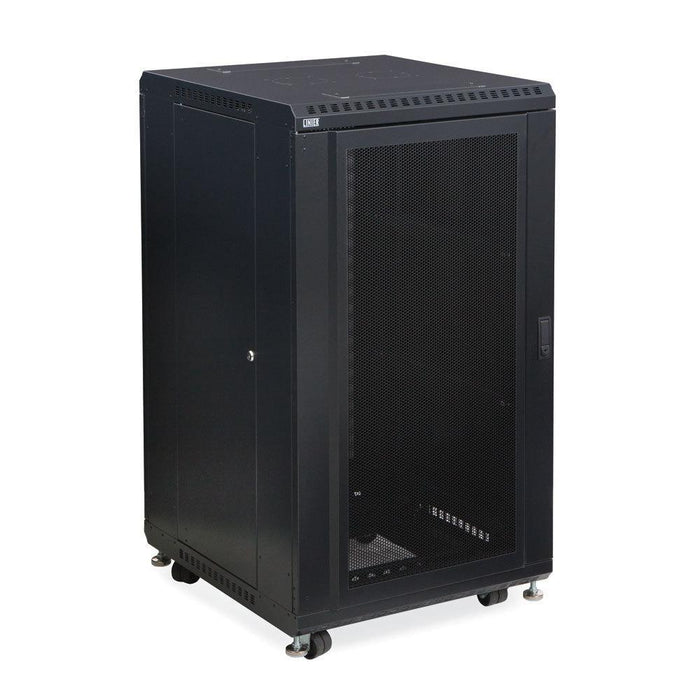 "22U LINIER® Server Cabinet - Convex/Convex Doors - 24"" Depth Racks & Accessories Kendall Howard"