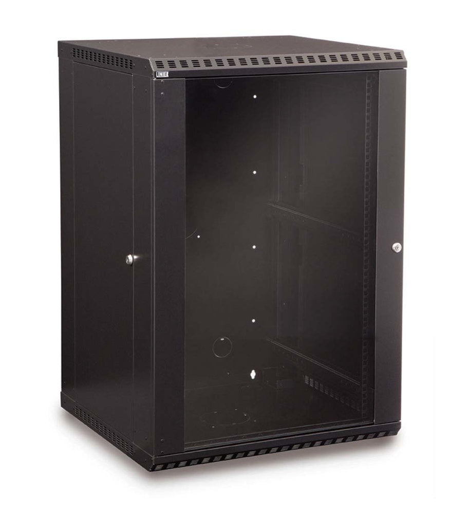18U LINIER® Fixed Wall Mount Cabinet - Glass Door by Kendall Howard in Racks & Accessories  - Network Cables Online