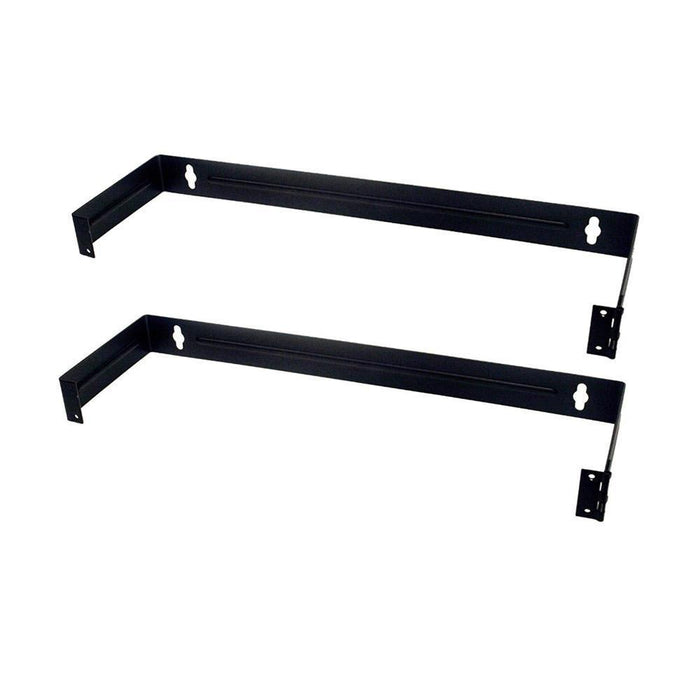 Patch Panel Brackets - Two 1U Steel Wall Mount Hinged