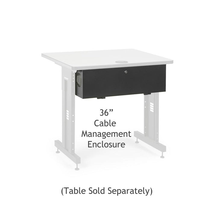 "36"" Training Table Cable Management Enclosure by Kendall Howard in Training Tables  - Network Cables Online"