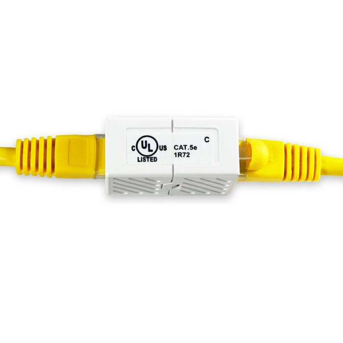 CAT5E In-Line Coupler RJ45 White