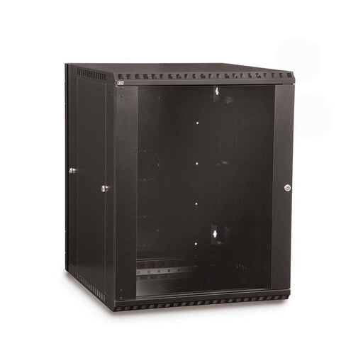 15U LINIER® Swing-Out Wall Mount Cabinet - Glass Door Racks & Accessories Kendall Howard