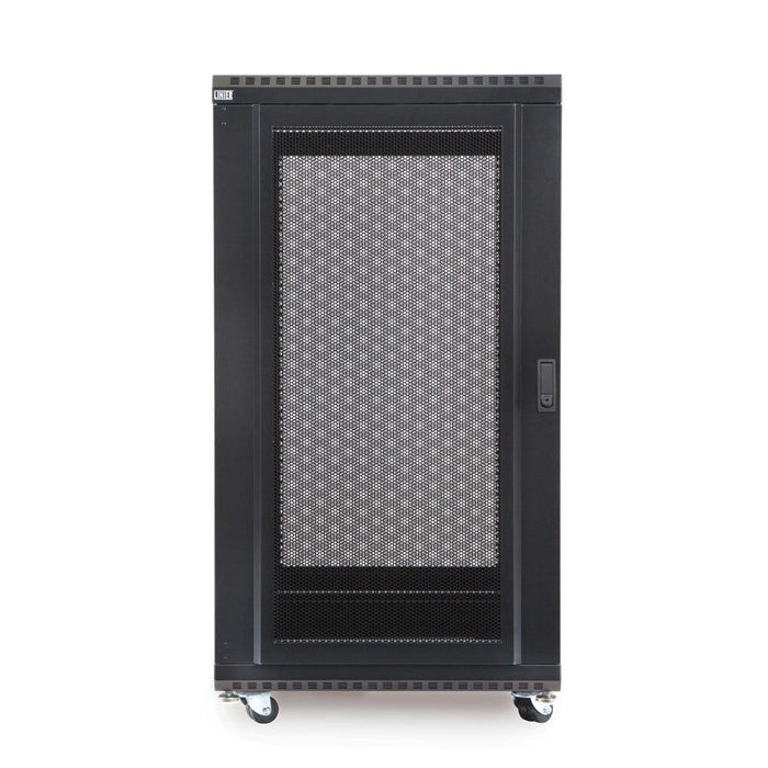 "22U LINIER® Server Cabinet - Convex/Vented Doors - 24"" Depth Racks & Accessories Kendall Howard"