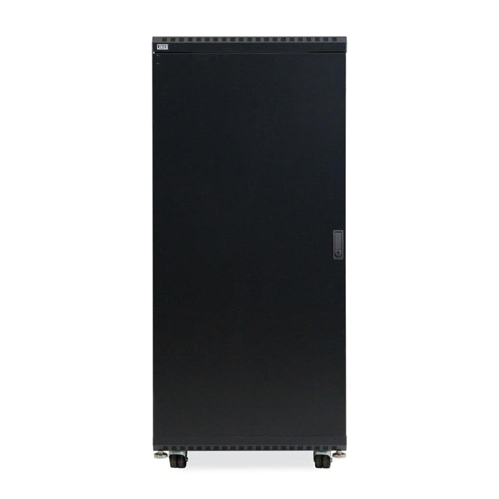 "27U LINIER® Server Cabinet - Glass/Solid Doors - 24"" Depth by Kendall Howard in Racks & Accessories  - Network Cables Online"
