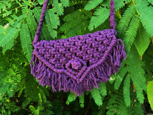 Load image into Gallery viewer, This photo shows the up-close details of the grape colored bag.