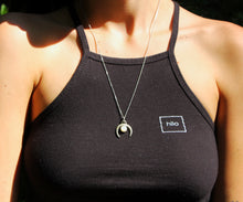 Load image into Gallery viewer, This photo shows someone wearing the moonstone and crescent moon.