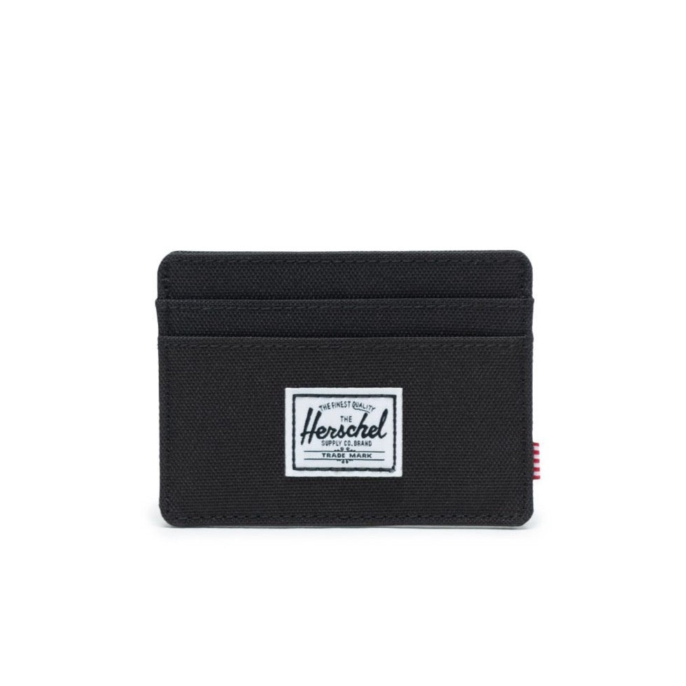 CHARLIE WALLET BLACK FRONT VIEW