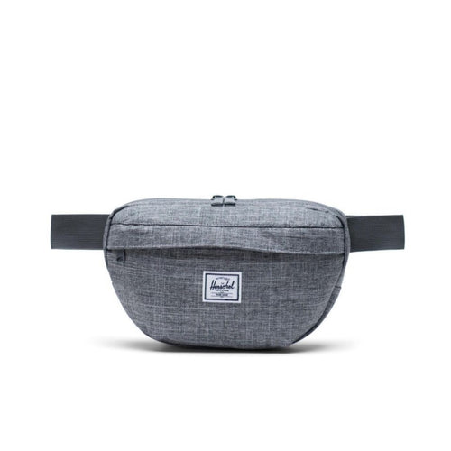 HERSCHEL NINETEEN HIP PACK IN RAVEN CROSSHATCH FRONT VIEW