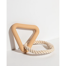 Load image into Gallery viewer, Wild One Tug Toy Triangle with Rope in Tan