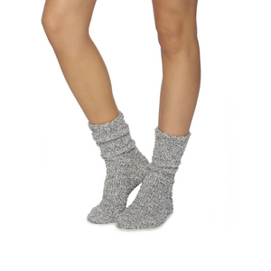 COZYCHIC WOMEN'S HEATHERED SOCKS | GRAPHITE/WHITE