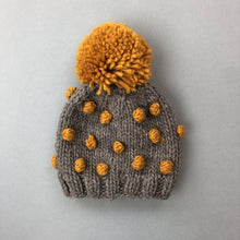 Load image into Gallery viewer, MUSTARD DOT BEANIE
