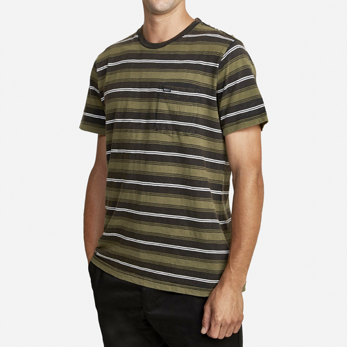 DAVIS STRIPE T-SHIRT | BLACK