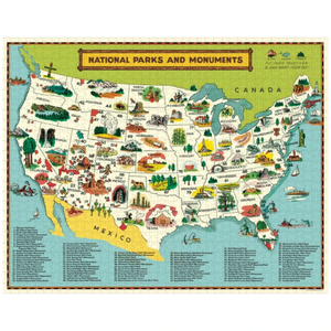NATIONAL PARKS MAP PUZZLE COMPLETED