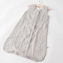 Load image into Gallery viewer, GRAY STRIPE SLEEP BAG LAYING FLAT