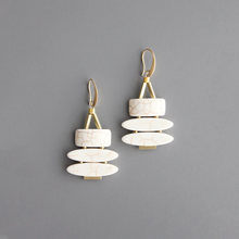 Load image into Gallery viewer, 3-TIER MAGNESITE EARRINGS
