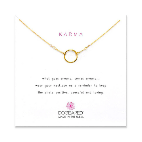 KARMA NECKLACE GOLD FILL ON CARD