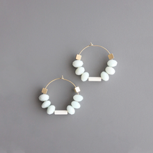 Load image into Gallery viewer, AMAZONITE HOOPS