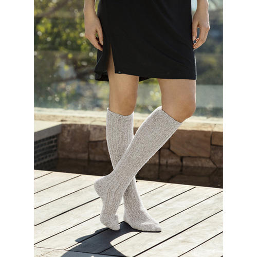 COZYCHIC WOMEN'S RIBBED SOCKS | BEACH ROCK/ALMOND