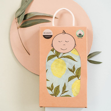 Load image into Gallery viewer, LEMON PRINT SWADDLE IN BOX