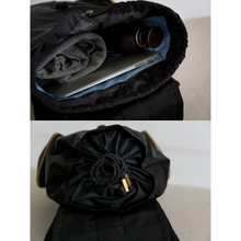 Load image into Gallery viewer, DRIFT KNAPSACK | JET BLACK drawstring feature
