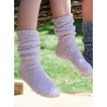 Load image into Gallery viewer, COZYCHIC YOUTH SOCKS | LILAC/WHITE