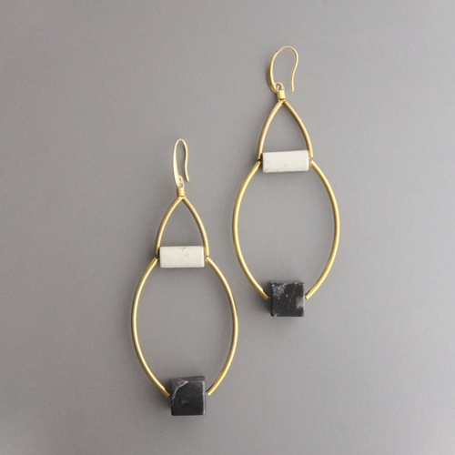 JASPER ELLIPSE EARRINGS