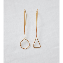 Load image into Gallery viewer, THE ASYMMETRIC EARRINGS GOLD FILL