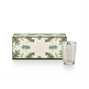 ILLUME BALSAM & CEDAR CANDLE HOLIDAY GIFT SET