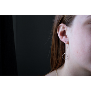 THE ASYMMETRIC EARRINGS SILVER