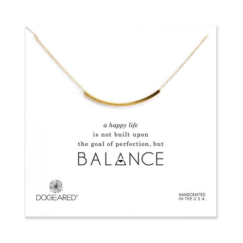 BALANCE TUBE BAR NECKLACE ON CARD