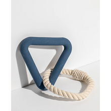 Load image into Gallery viewer, Wild One Tug Toy Triangle with Rope in Blue