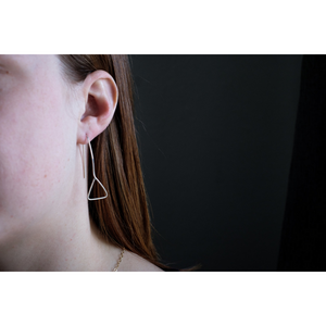 THE ASYMMETRIC EARRINGS STERLING SILVER