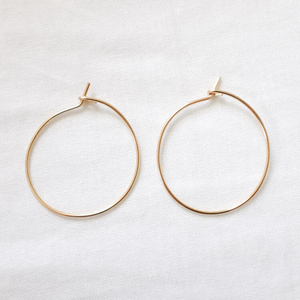 ESSENTIAL HOOPS GOLD FILL