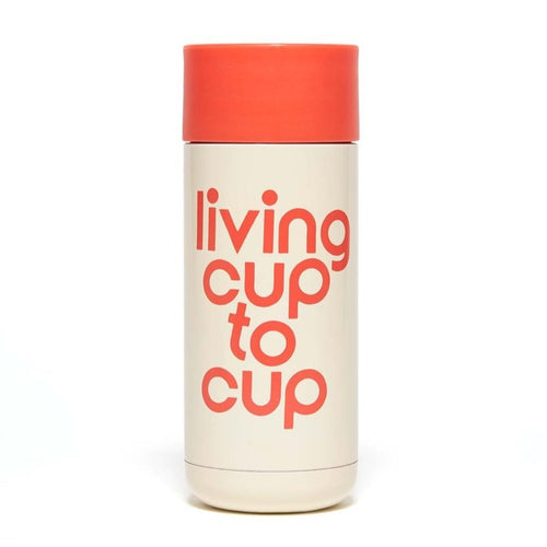 LIVING CUP TO CUP THERMAL MUG FRONT VIEW