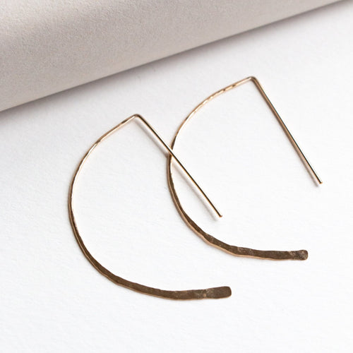 large arrow earrings gold fill
