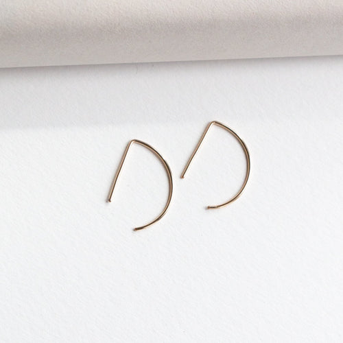 small arrow earrings gold fill