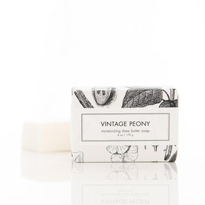 VINTAGE PEONY SOAP BAR IN PACKAGING
