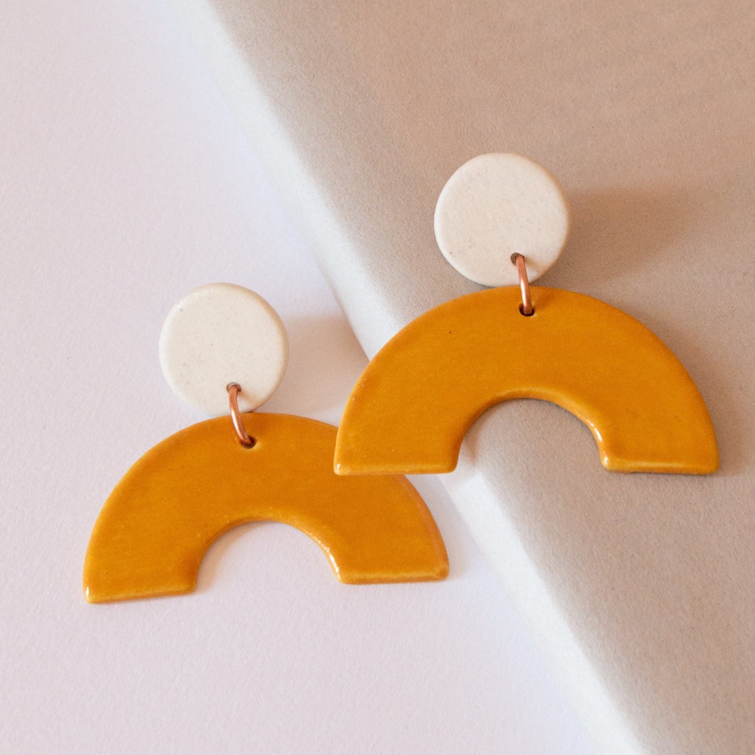 YELLOW ARCH EARRINGS
