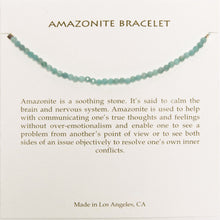 Load image into Gallery viewer, amazonite bracelet on card