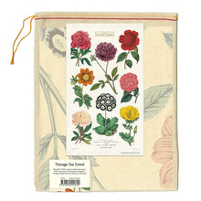 Load image into Gallery viewer, botanica tea towel in muslin bag