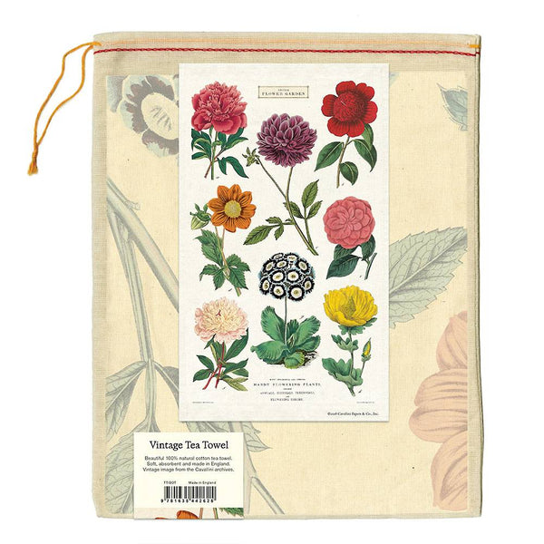 botanica tea towel in muslin bag