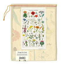 Load image into Gallery viewer, wildflowers tea towel in muslin bag