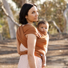 Load image into Gallery viewer, MOTHER WITH BABY IN MOBY CLASSIC WRAP IN CARAMEL